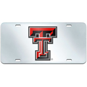 "Texas Tech University - License Plate Acrylic Inlaid 6""X12"" - 15099"