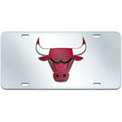 "NBA - Chicago Bulls - License Plate Acrylic Inlaid 6""X12"" - 15116"