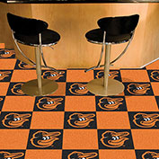 "Fan Mats MLB - Baltimore Orioles Cartoon Bird Carpet Tiles 18"" X 18"" Tiles - 15170"