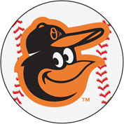 "Fan Mats MLB - Baltimore Orioles Cartoon Bird Baseball Mat 26"" Dia. - 15173"