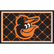 Fan Mats MLB - Baltimore Orioles Cartoon Bird Rug 4' X 6' - 15178