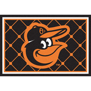 Fan Mats MLB - Baltimore Orioles Cartoon Bird Rug 5' X 8' - 15179