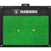 "Fan Mats Oakland Raiders Golf Hitting Mat 20"" X 17"" - 15471"