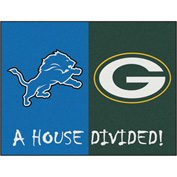 "Fan Mats NFL - Detroit Lions/Green Bay Packers House Divided Rugs 34"" X 45"" - 15555"