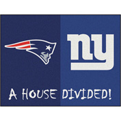 "Fan Mats NFL - New England Patriots/New York Giants House Divided Rugs 34"" X 45"" - 15557"