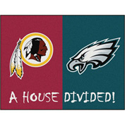 "Fan Mats NFL - Washington Redskins/Philadelphia Eagles House Divided Rugs 34"" X 45"" - 15562"