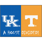 "Fan Mats Kentucky/Tennessee House Divided Rugs 34"" X 45"" - 15584"