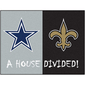 "Fan Mats NFL - Dallas Cowboys/New Orleans Saints House Divided Rugs 34"" X 45"" - 15647"