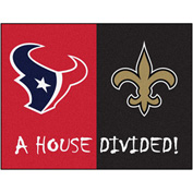 "Fan Mats NFL - Houston Texans/New Orleans Saints House Divided Rugs 34"" X 45"" - 15649"
