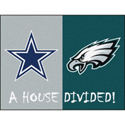 "Fan Mats NFL - Dallas Cowboys/Philadelphia Eagles House Divided Rugs 34"" X 45"" - 15665"
