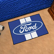 "Fan Mats Ford - Ford Oval with Stripes Starter Mat, 19"" x 30"" - 16147"