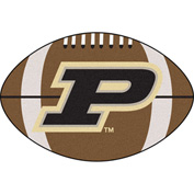 "Fan Mats Purdue 'P' Football Rug 22"" X 35"" - 16827"