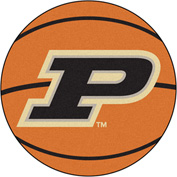 "Fan Mats Purdue 'P' Basketball Mat 27"" Dia. - 16828"