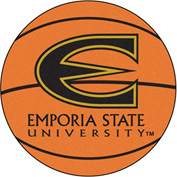"Fan Mats Emporia State University Basketball Mat 26"" Dia. - 458"