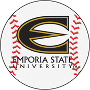 "Fan Mats Emporia State University Baseball Mat 26"" Dia. - 459"