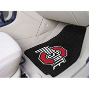 "Ohio State University - 2 Piece Carpeted Car Mat Set 17""W x 27""L - 5293"