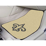 "NFL - New Orleans Saints - 2 Piece Carpeted Car Mat Set 17""W x 27""L - 5768"