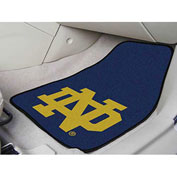 "Notre Dame - 2 Piece Carpeted Car Mat Set 17""W x 27""L - 6059"