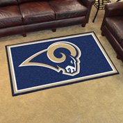 "Fan Mats Los Angeles Rams Rug 4 x 6 46"" x 72"" - 6608"