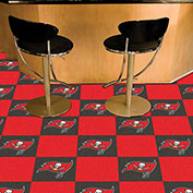 "Tampa Bay Buccaneers Carpet Tiles 18"" x 18"" Tiles"