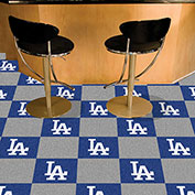 "Los Angeles Dodgers Carpet Tiles 18"" x 18"" Tiles"