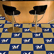 "Milwaukee Brewers Carpet Tiles 18"" x 18"" Tiles"