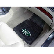 "NFL - New York Jets - Heavy Duty Vinyl 2 Piece Car Mat Set 17""W x 27""L - 8773"