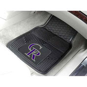 "MLB - Colorado Rockies - Heavy Duty Vinyl 2 Piece Car Mat Set 17""W x 27""L - 8836"