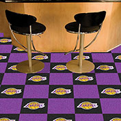 "Los Angeles Lakers Carpet Tiles 18"" x 18"" Tiles"