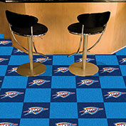 "Oklahoma City Thunder Carpet Tiles 18"" x 18"" Tiles"