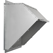 "Fantech 36"" Weather Hood 1ACC36WH, For Exhaust/Supply Fans, Galvanized Steel"