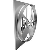 "Fantech 30"" Standard Duty Axial Wall Fan Kit 1SDE30BB, 1/4 HP, 115V, 1 PH, 6895 CFM"