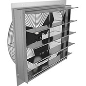 "Fantech 24"" Axial Wall Shutter Fan 2SHE24B1W, 1/4 HP, 115V, 1 PH, 3992 CFM, TEFC"