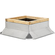 "Fantech Fixed Non-Ventilated Curb 5ACC17FS, 17-1/2"" Square x 8""H, Galvanized Steel"