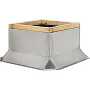"Fantech Fixed Non-Ventilated Curb 5ACC17FT, 17-1/2"" Square x 12""H, Galvanized Steel"