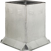 """Fantech Fixed Ventilated Curb 5ACC24VC, 24-1/2"""" Square x 24""""H, Galvanized Steel"""