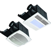 Fantech Quiet Exhaust Fan With Light FQ80FL, 120V, 1 PH, 80 CFM, 0.4 Sones