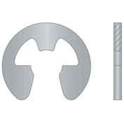 "External E-Clip - 9/64"" Shaft Dia. - 15-7 Stainless Steel - Passivated - Stamped - USA - Pkg of 165"