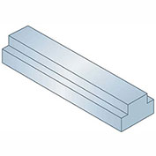 "Step Keystock - 1/2"" x 9/16"" x 1 Ft - Type 1 - Zinc Clear - Overall Height: 1/4"" + 3/16"""