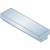 "Step Keystock - 3/8"" x 5/16"" x 1 Ft - Type 1 - Zinc Clear - Oversized - Overall Height: 3/16"" + 1/8"""