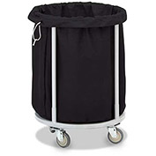 "Forbes Laundry Cart 1100 Cloth 33""H  x 24-3/4"" Dia"