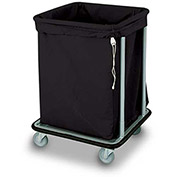 "Forbes Laundry Cart 1106-B HD Cloth 23-3/4""L x 22-3/4""W x 32-1/2""H, 6 Bushel, Black"