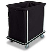 "Forbes Laundry Cart 1112-B HD Cloth 38-1/2""L x 23-1/2""W x 38""H, 12 Bushel, Black"