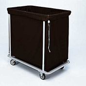 "Forbes Laundry Cart 1112 HD Cloth 37""L x 22""W x 38""H, 12 Bushel, Black"