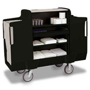 "Forbes ULTRA 2000 Housekeeping Cart with 8"" Wheels, Black - 2000-8-EN"