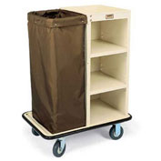 Forbes Steel Turndown Cart Housekeeping Cart, Beige - 2109-BE