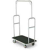 "Forbes Standard Bellman Cart 2431-GY-GY Silver Powder Epoxy, Gray Bumper, 8"" Rubber"