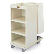 Forbes Steel Compact Housekeeping Cart, Beige - H1040-BE
