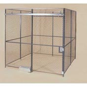 Wov-N-Wire™ Wire Mesh Pre-Designed, 4 Sided Room Kit, 20'W X 20'D X 10'H, W/Slide Door