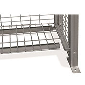 "Stor-More® Loss Prevention Security Cabinet/Locker Welded Wire Removable Shelf 4ga. 44"" X 14"""